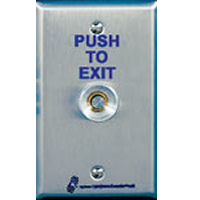 TS-16 ALARM CONTROLS PNUEMATIC TIME DELAY REQUEST-TO-EXIT BUTTON SINGLE GANG SS PLATE