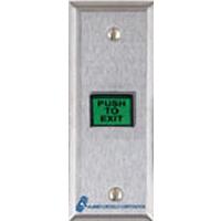 TS-9 ALARM CONTROLS REX PUSH BUTTON DPDT SLIM LINE PLATE