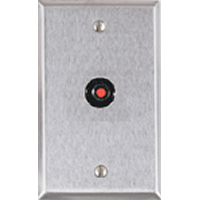 RP-44 ALARM CONTROLS 1 GANG STAINLESS STEEL PLATE WITH FA200