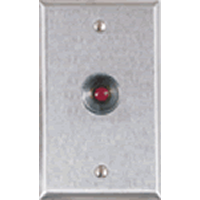 RP-26 ALARM CONTROLS 1 GANG STAINLESS STEEL PLATE WITH N.O. PANIC BUTTON