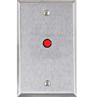 "RP-28 ALARM CONTROLS SINGLE GANG STAINLESS STEEL PLATE W/ ONE RED PLATE WITH ONE 1/4"" SOLID RED LED, 12VDC ************************* SPECIAL ORDER ITEM NO RETURNS OR SUBJECT TO RESTOCK FEE *************************"