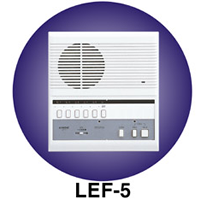 LEF-5C AIPHONE 5-CALL SEMI-FLUSH MOUNT MASTER