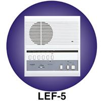LEF-5C AIPHONE 5-CALL SEMI-FLUSH MOUNT MASTER
