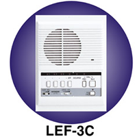 LEF-3C AIPHONE 3-CALL SEMI-FLUSH MOUNT MASTER