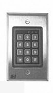 232W LINEAR WEATHER-RESISTANT, MEMBRANE KEYPAD, FLUSH MOUNT. STAINLESS FACE PLATE. 0-213222