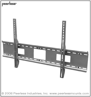 "SF670 PEERLESS FLAT WALL MOUNT FOR LARGE 42""- 71"" LCD AND PLASMA SCREENS UNIVERSAL - BLACK ************************* SPECIAL ORDER ITEM NO RETURNS OR SUBJECT TO RESTOCK FEE *************************"