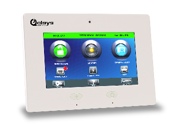 "QS-9004-VRZ QOLSYS IQ PANEL ALL IN ONE PANEL WITH 7"" TOUCHSCREEN, BATTERY BACKUP, & TRANSFORMER WITH VERIZON ALARM.COM."