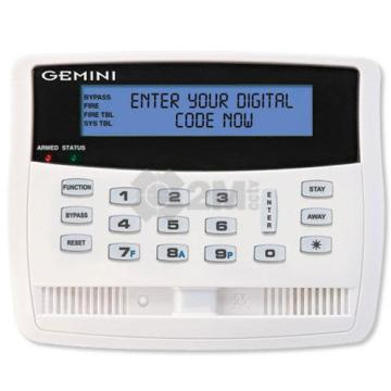 GEM-K1VPS NAPCO KEYPAD W/ SMART BLUE BACKLIT DISPLAY PIR & SIREN BUILT IN VOICE PROMPTS 4 ZONE EXP