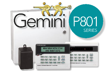 GEM-P801 NAPCO HYBRID CONTROL PANEL WITH 9 PROGRAMMABLE ZONES, INCLUDES RP8 KEYPAD