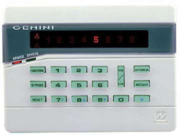 GEM-RP8 NAPCO KEYPAD 8 ZONE GEMINI SERIES