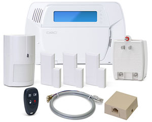 DSCKIT457-96H DSC IMPASSA SELF-CONTAINED WIRELESS SECURITY SYSTEM WITH INTEGRATED HSPA (3G) CELLULAR COMMUNICATOR 1 x WS4904P WLS PET-IMMUNE DETECTOR 1 x WS4939 FOUR-BUTTON WIRELESS KEY 3 x EV-DW4975 WLS VANISHING DOOR/WINDOW CONTACTS TRANSFORMER TELEPHONE JACK AND CORD