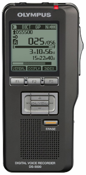 OLY-V402121TU000 DS-5500 OLYMPUS DIGITAL VOICE RECORDER COMPATIBLE W/SC1 BAR CODE SCANNER, USES AAA BATTERIES