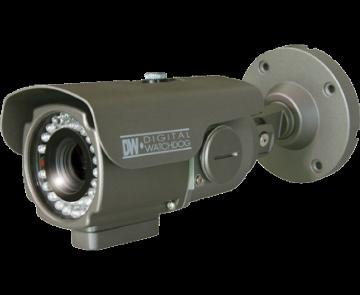 "DWC-B2382TIR DIGITAL WATCHDOG DIGITAL BULLET CAMERA, OMNI-PLUS SERIES, HIGH RES 600 LINES, 1/3"" SONY SUPER II HAD CCD CHIP, 3X ZOOM OMNI-FOCUS, 2.9~8.5MM ZOOM LENS, MOTION DETECTION, INTELLIGENT IR LED (70'), OSD JOYSTICK, LOW POWER CONSUMPTION, DUAL VOLTAGE, AGC, BLC, AWB, TRUE DAY & NIGHT, 5- ************************** CLEARANCE ITEM- NO RETURNS *****ALL SALES FINAL******* **************************"