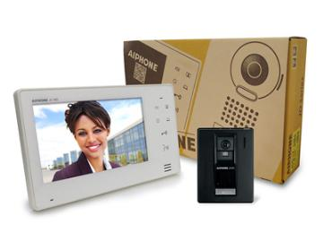 """JOS-1A AIPHONE 7"""" SCREEN WITH TOUCH BUTTONS, HANDS-FREE 1 X 1 COLOR VIDEO SET (JO-1MD, JO-DA, PS-1820UL)SURFACE MT DOOR STATION"""