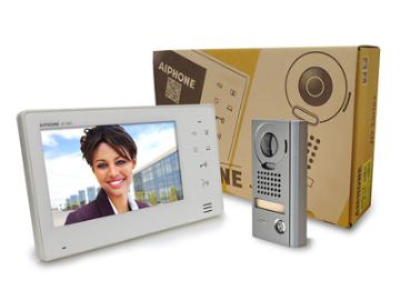 """JOS-1V AIPHONE 7"""" SCREEN WITH TOUCH BUTTONS, HANDS-FREE 1 X 1 COLOR VIDEO SET (JO-1MD, JO-DV, PS-1820UL)"""