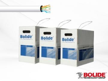 BP0033/CAT5E/CMR-BLUE BOLIDE 1000FT CMR 350Mhz Solid Copper Cat5E Riser Cable, Blue