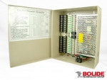 BP0050/18-10 BOLIDE 12VDC REGULATED POWER SUPPLY, 18 OUTPUT, 10 AMP