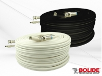 BP0033/PM60B BOLIDE 60FT PREMADE RG59 & 18/2 SIAMESE COMBO, BLACK - BNC AND POWER CONNECTOR ALREADY TERMINATED