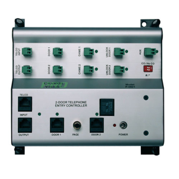 P-0921 CHANNELVISION 2 DOOR TELEPHONE ENTRY CONTROLLER ************************* SPECIAL ORDER ITEM NO RETURNS OR SUBJECT TO RESTOCK FEE *************************
