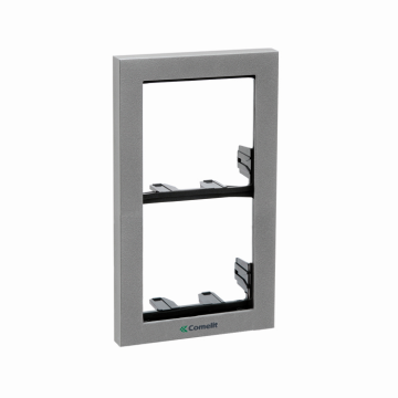 3311/2S COMELIT MODULE-HOLDER FRAME COMPLETE WITH CORNICE FOR 2 MODULE- SILVER COLOUR. IKALL AND POWERCOM SERIES ************************* SPECIAL ORDER ITEM NO RETURNS OR SUBJECT TO RESTOCK FEE *************************