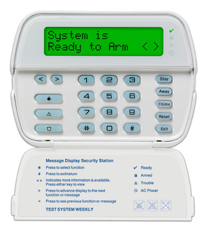 DSCRFK5500ENG DSC 64 ZONE FULL MESSAGE LCD KEYPAD WITH ENGLISH FUNCTION KEYS AND BUILT IN 433MHZ WIRELESS RECEIVER