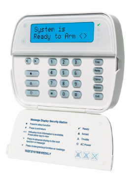 DSCWT5500DADT DSC ADT Branded 2-Way Wireless Wire-Free Keypad with 2x16 full alpha display, AC/DC plug in adaptor and deskstand.