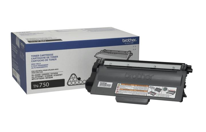 BRT-TN750 BROTHER HIGH YIELD TONER CARTRIDGE FOR MFC8710DW, MFC8910DW