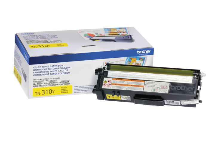 BRT-TN310Y BROTHER YELLOW TONER CARTRIDGE FOR MFC9460CDN / MFC9560CDW / MFC9970CDW / HL4150CDN/ HL4570CDW/HL4 ... FC9460CDN / MFC9560CDW / MFC9970CDW / HL4150CDN / HL4570CDW / HL4 570CDWT