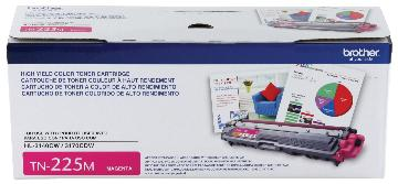 BRT-TN225M BROTHER HI YIELD MAGENTA TONER CARTRIDGE FOR HL3140CW, HL3170CDW, NMFC9130CW, MFC9330CDW 2200 PAGE YIELD
