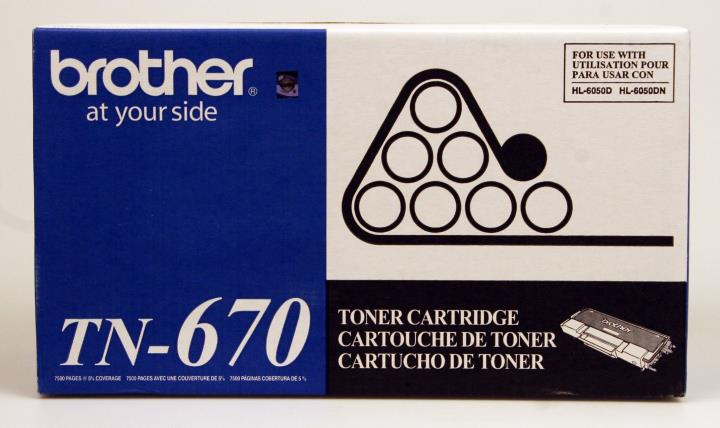 BRT-TN670 BROTHER 7500 YLD TONER FOR HL-6050 SERIES