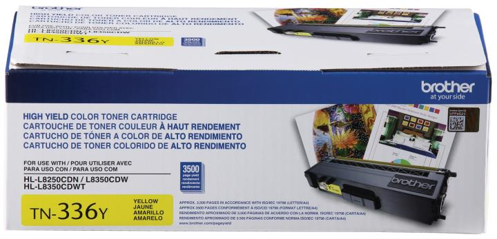 BRT-TN336Y BROTHER HIGH YIELD YELLO W TONER CARTRIDGE FOR HLL8250CDN, HLL8350CDW,HLL8350CDWT