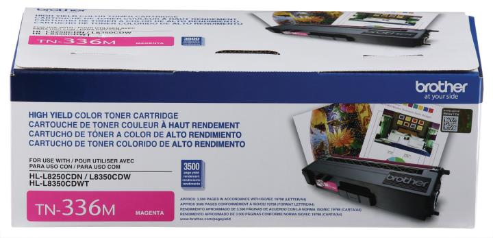 BRT-TN336M BROTHER HIGH YIELD MAGEN TA TONER CARTRIDGE FOR HLL8250CDN, HLL8350CDW,HLL8350CDWT