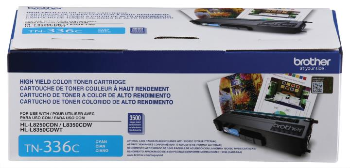 BRT-TN336C BROTHER HIGH YIELD CYAN TONER CARTRIDGE FOR HLL8250CDN, HLL8350CDW,HLL8350CDWT