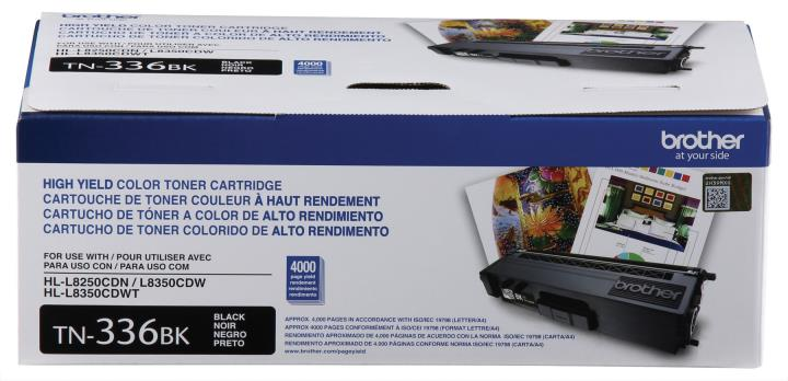 BRT-TN336BK BROTHER HIGH YIELD BLACK TONER CARTRIDGE FOR HLL8250CDN,HLL8350CDW,HLL8350CDWT