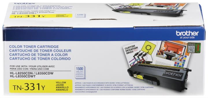 BRT-TN331Y BROTHER YELLOW TONER CARTRIDGE FOR HLL8250CDN,HLL8350CDW ,HLL8350CDWT