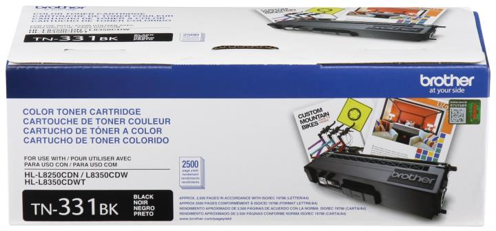 BRT-TN331BK BROTHER BLACK TONER CAR TRIDGE FOR HLL8250CDN,HLL8350CDW, HLL8350CDWT