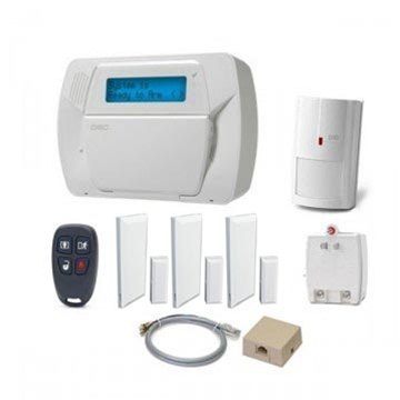 DSCKIT457-14 DSC Impassa self contained wireless kit, containing 1 x WS4904P wireless pet-immune passive infrared detector, 1 x WS4939 four-button wireless key, 3 x EV-DW4975 vanishing wireless door/window contacts, PTD1620U-CC class 4 high efficiency transformer, telephone jack and cord. English user and installation manuals
