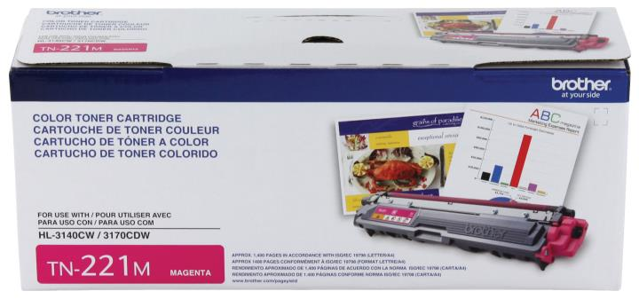BRT-TN221M BROTHER MAGENTA TONER CARTRIDGE FOR HL3140CW,HL3170CDW, MFC9130CW, MFC9330CDW, 1400 PAGE YLD