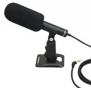 OLY-145062 OLYMPUS ME31 COMPACT GUN MICROPHONE FOR DM901 LS100 LS10 LS12 LS14. FREQUENCY RESPONSE: 70 - 15000 Hz