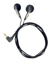 OLY-146112 OLYMPUS E20 DUAL SMALL ULTRA-LIGHTWEIGHT MONAURAL EARPHONES, 3.5mm JACK, 3.6 FEET CORD LENGTH Use with DP311/DS2500