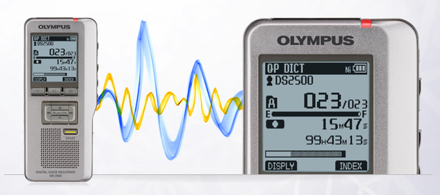 OLY-V403121SU000 OLYMPUS DS2500-U1- SLV DIGITAL VOICE RECORDER
