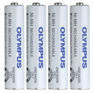 OLY-147427 OLYMPUS BR404 Ni-MH 4XAAA 1.2V NICKEL METAL HYDRIDE RECHARGEABLE BATTERIES USED WITH DM620 & DS2500