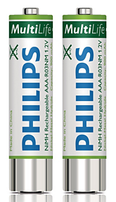 PSP-LFH9154/00 PHILIPS RECHARGEABLE BATTERIES For use with: Analog Pocket Memo 588, Digital Pocket Memo 9600, 9500 Series, 9370 and Conference Recording System 955