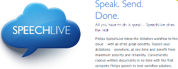PSP-PCL1100 PHILIPS SPEECH LIVE ADVANCED BUSINESS PACKAGE UP TO 25 USERS, 20 GB/100,000 MIN (DSS PRO)