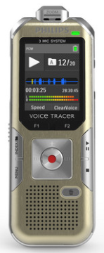 PSP-DVT6510 PHILIPS VOICE TRACER WITH 3 MIC HIGH FIDELITY RECORDING, WIRELESS REMOTE INCLUDED