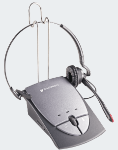 PLN-65145-01 PLANTRONICS S12 OVER THE EAR CONVERTIBLE HEADSET W/ NOISE CANCELING MICROPHONE