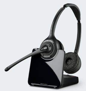 PLN-88285-01 PLANTRONICS CS520XD 900 MHz OVER THE HEAD BINAURAL HEADSET, 350FT RANGE, DESIGNED FOR EXTREME DENSITY