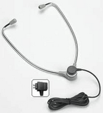 VEC-AL60DP VEC ALUMINUM HINGED STETHO HEADSET W/ PLASTIC EAR TIPS COMPATIBLE W/ ALL DICTAPHONE MODELS (133-623)