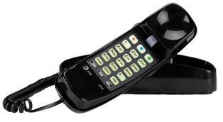 ATT-89-0008-05 ATT 210BK TRIMLINE DESK/WALL CORDED TELEPHONE BLACK