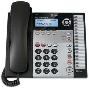 ATT-89-4021-00 ATT 1040 4 LINE CORDED SPEAKERPHONE WITH INTERCOM PAGE CALL TRANSFER Compatible w/1070 & 1080 not backwards compatible